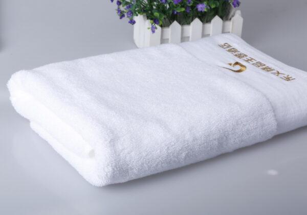 dobby border towels