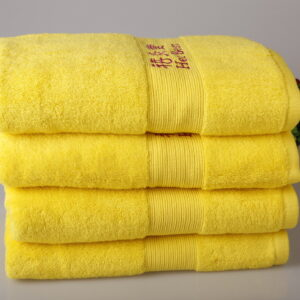 dobby border bath towels